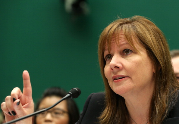WASHINGTON, DC - JUNE 18:  General Motors CEO Mary Barra testifies during a House Energy and Commerce Committee hearing on Capitol Hill on June 18, 2014 in Washington, DC. The committee is hearing testimony on GM's internal recall investigation and how the company is changing to prevent another safety crisis similar to its deadly delay in recalling millions of defective cars.  (Photo by Mark Wilson/Getty Images)