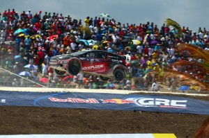 Nelson Piquet Jr. competes at Red Bull Global Rallycross Round 1, in Barbados on 18 May 2014.