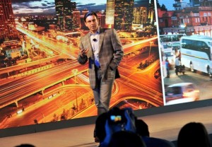 Mark Fields, President and CEO, Ford Motor Company today announces the new ride sharing program Tuesday (Ford)