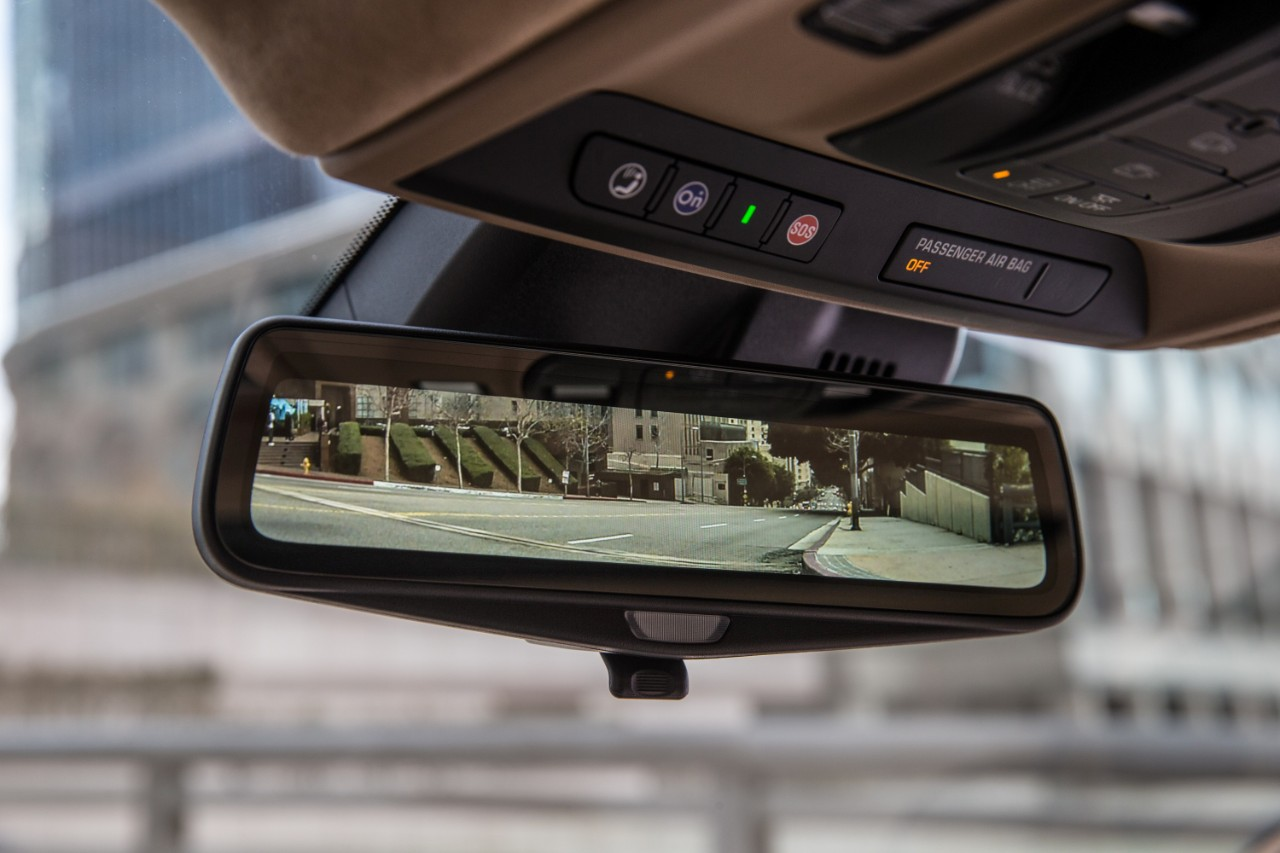 The rearview mirror, which really isn't a mirror but a rearview display did take some getting used to. It does give an unobstructed view out the back, but the occasional self- glance in the mirror was a bit disconcerting at first. (GM)
