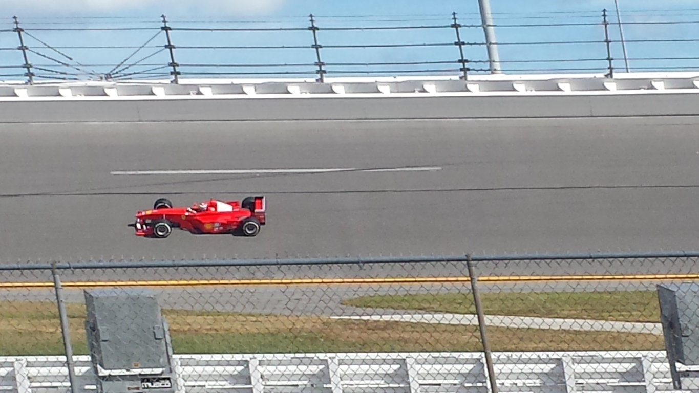 A Scuderia F1 car made laps at Daytona International Speedway Wednesday. (Photo: Greg Engle)