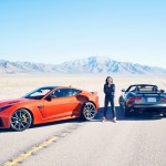 Michelle Rodriguez with the 2017 Jaguar F-Type SVR (Jaguar)