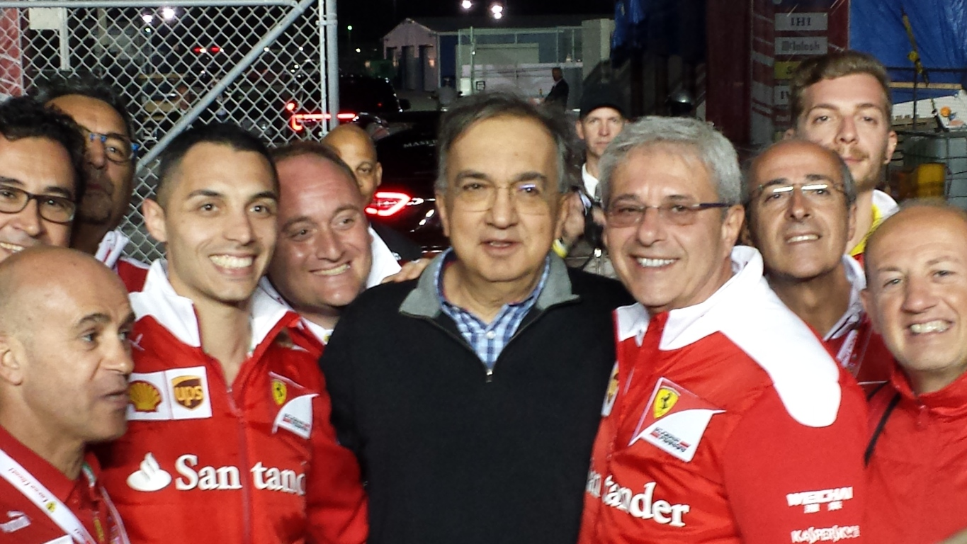 Ferrari CEO Sergio Marchionne made a surprise appearance Saturday night at Daytona. (Photo: Greg Engle)