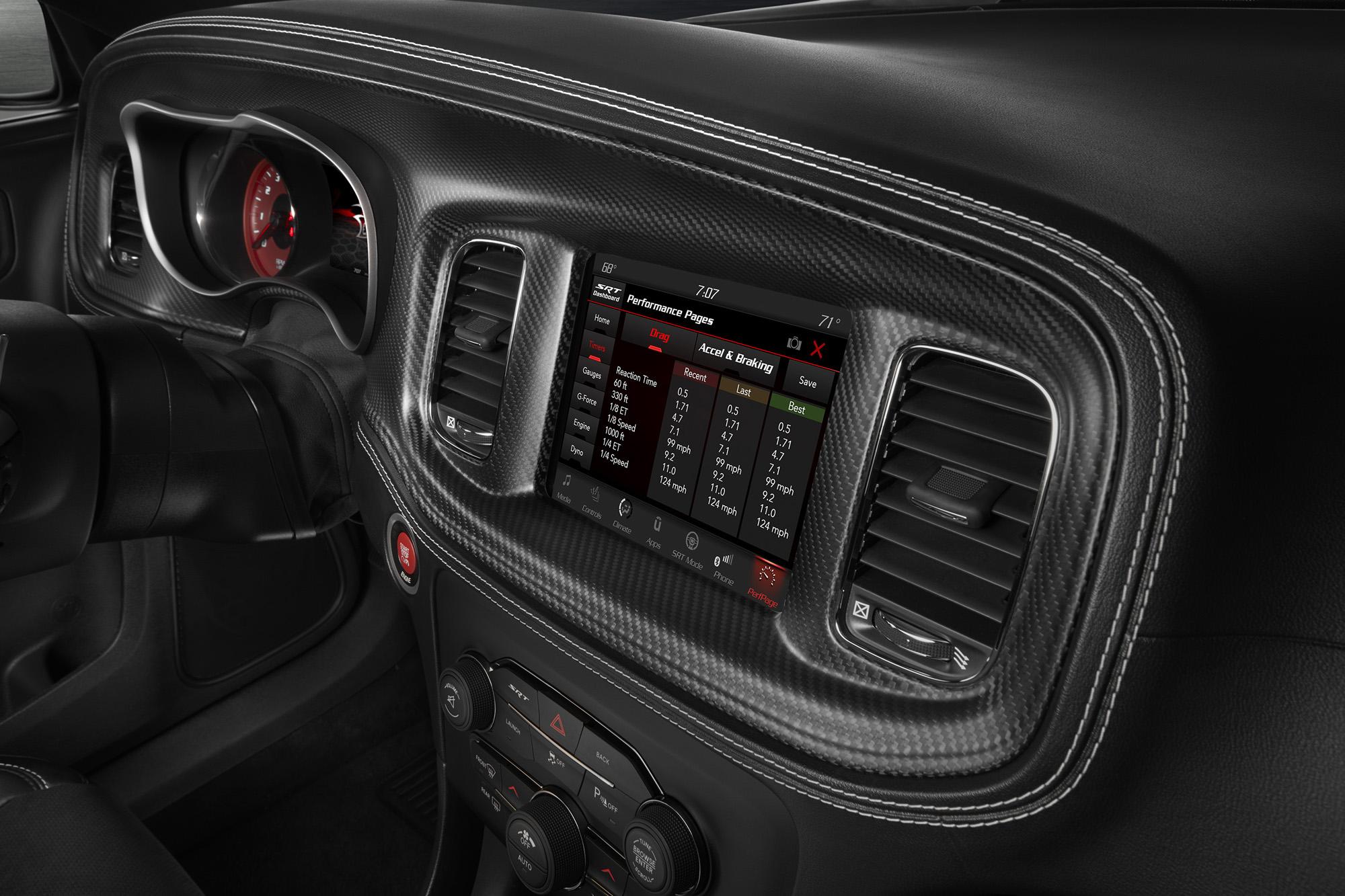 Standard SRT Performance Pages in the 2020 Dodge Charger SRT Hel