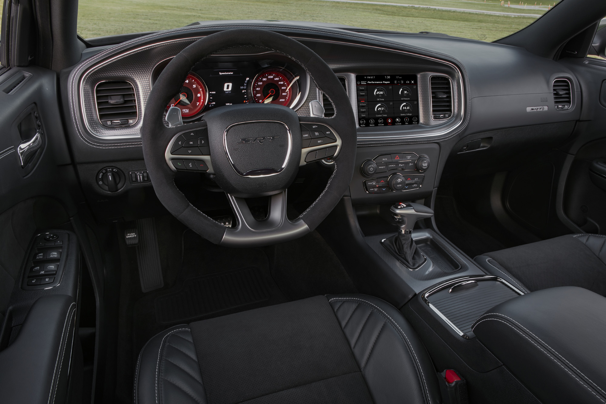2020 Dodge Charger SRT Hellcat with premium stitched dash and do
